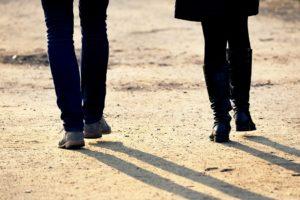 Personnes, L'Homme, Femme, À Pied, Couple, Ensemble
